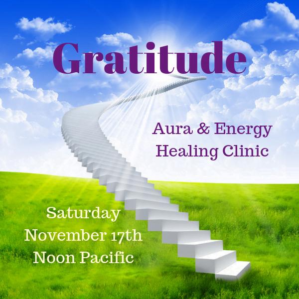 November Aura Healing Clinic - Gratitude