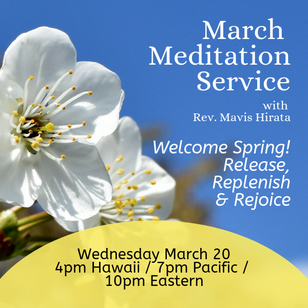 March Clair voyant Meditation Service 2019